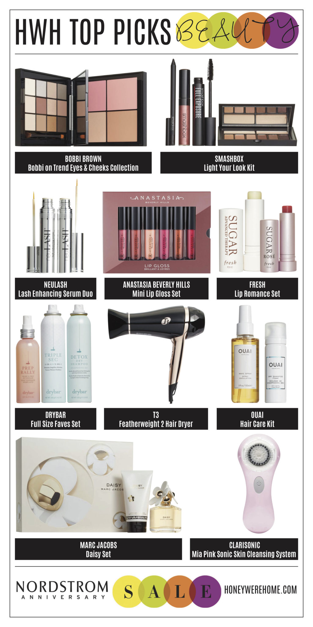 HWH Nordstrom Sale 2017, Beauty Collage