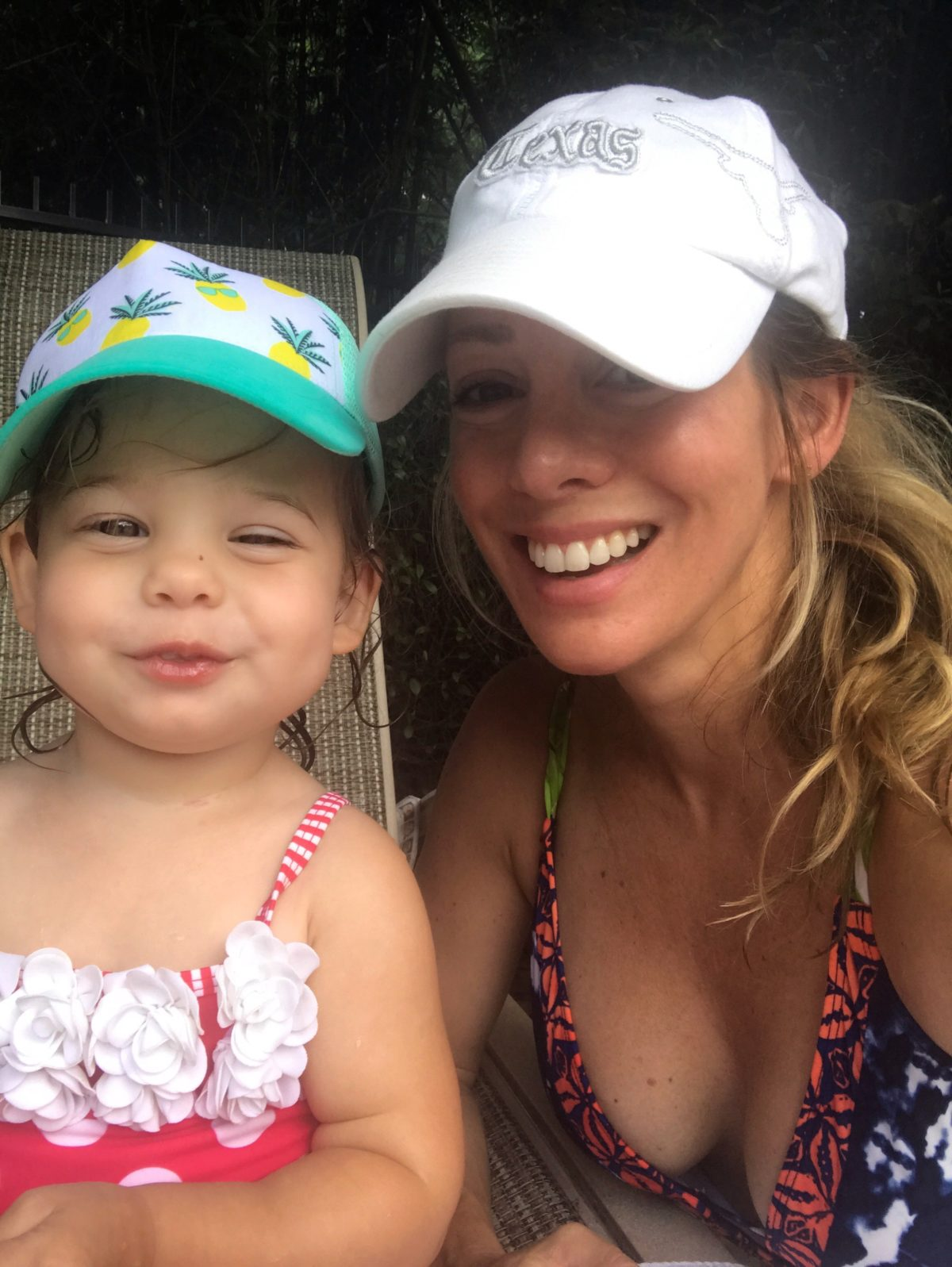 baby swimsuit and hat