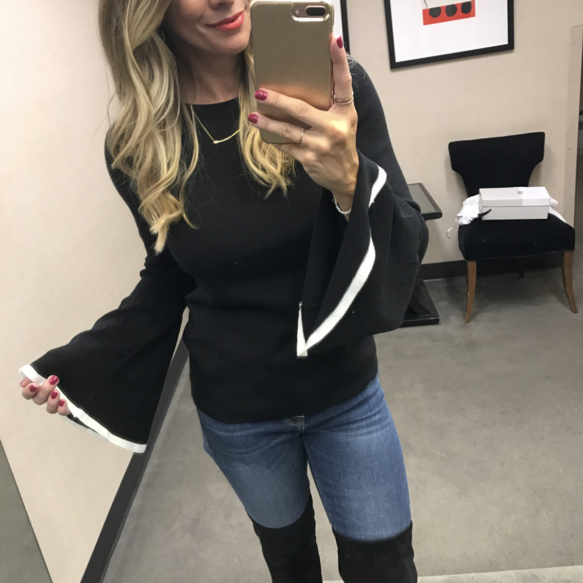| Halogen Flare Sleeve Sweater Nordstrom Anniversary Sale 2017