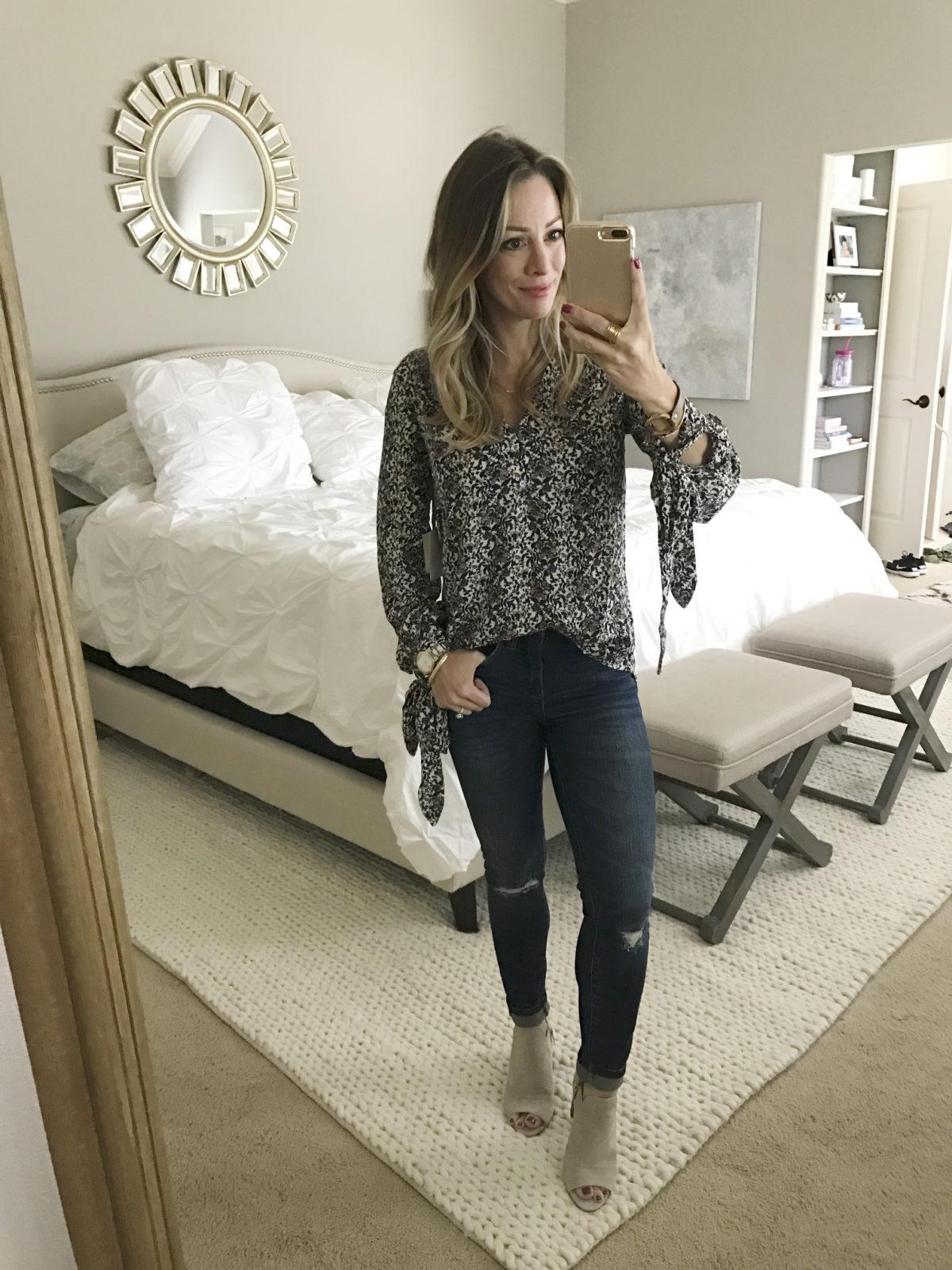hinge blouse blanknyc jeans booties