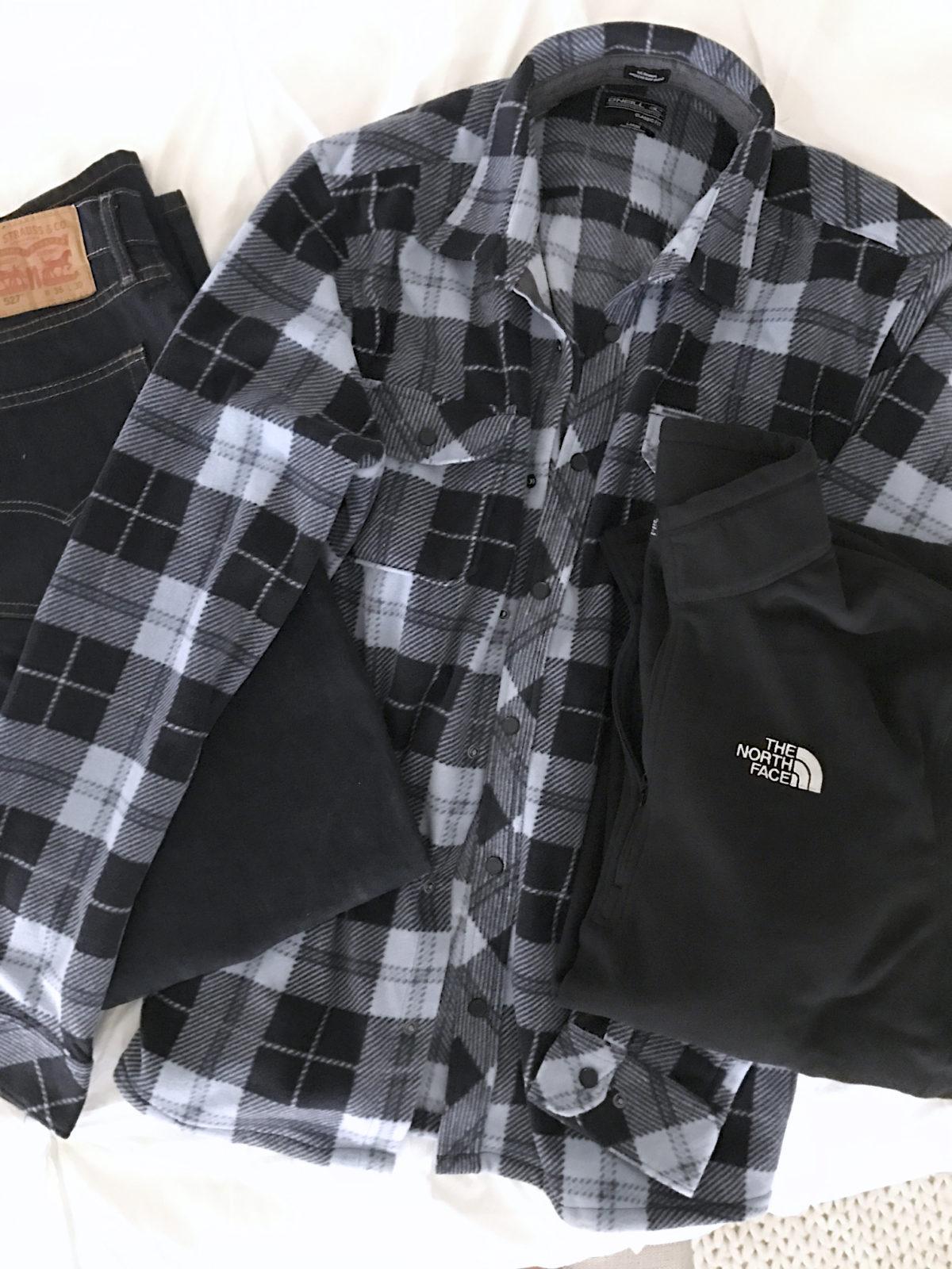 mens fleece and flannel