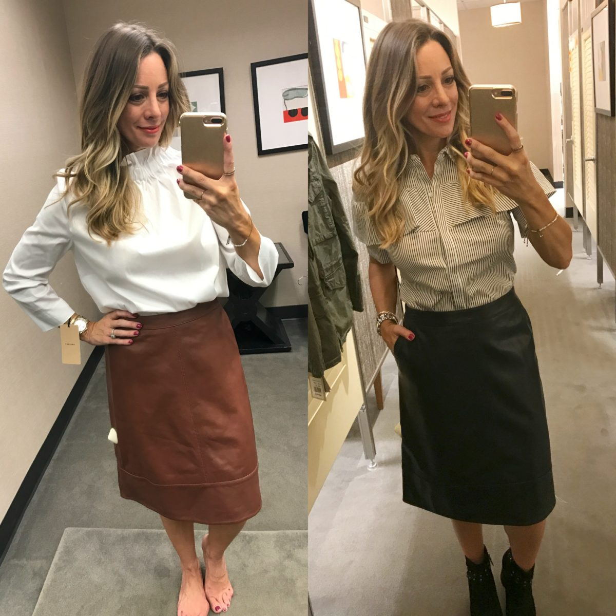 Nordstrom Anniversary Sale leather skirt