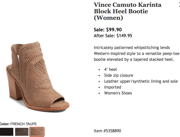 Nordstrom Anniversary Sale 2017 Vince Camuto Karina bootie
