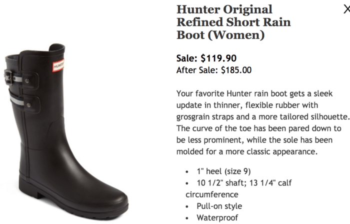 Nordstrom Anniversary Sale 2017 Hunter Original Short Boot
