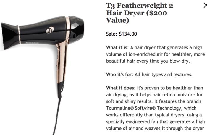 Nordstrom Anniversary Sale 2017 T3 Featherweight Hairdryer