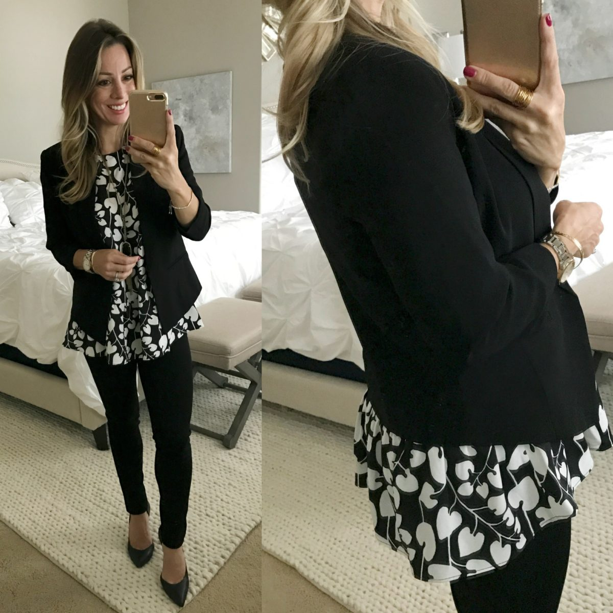 black 34 sleeve blazer
