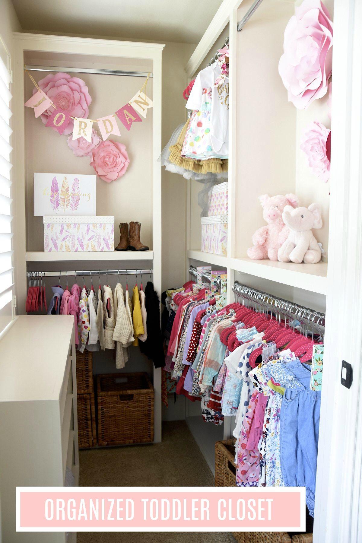 organized toddler closet