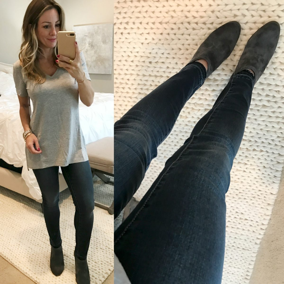 v-neck tee carly jeans