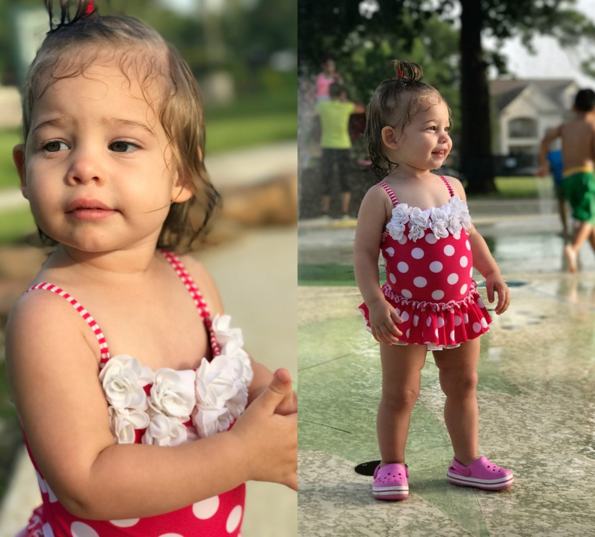 Jordan polka dot swimsuit