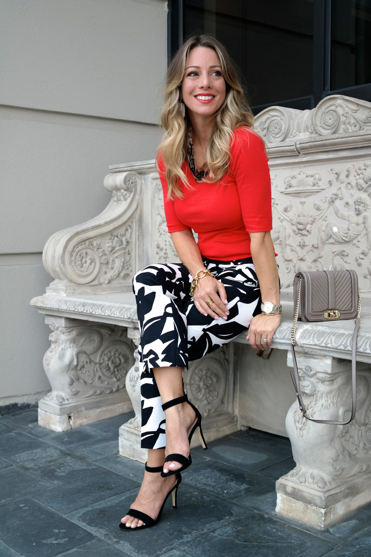 Print Pants Red Top.7
