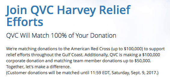 QVC Matching Donations