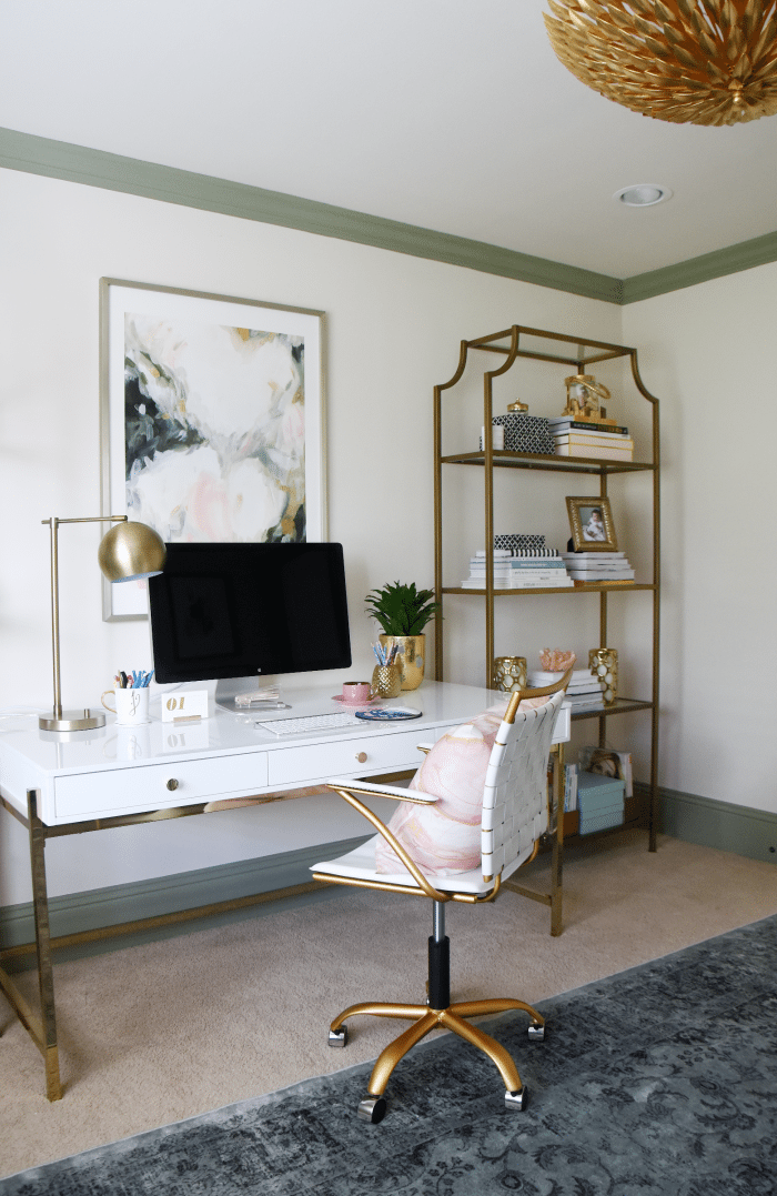 feminine glam home office