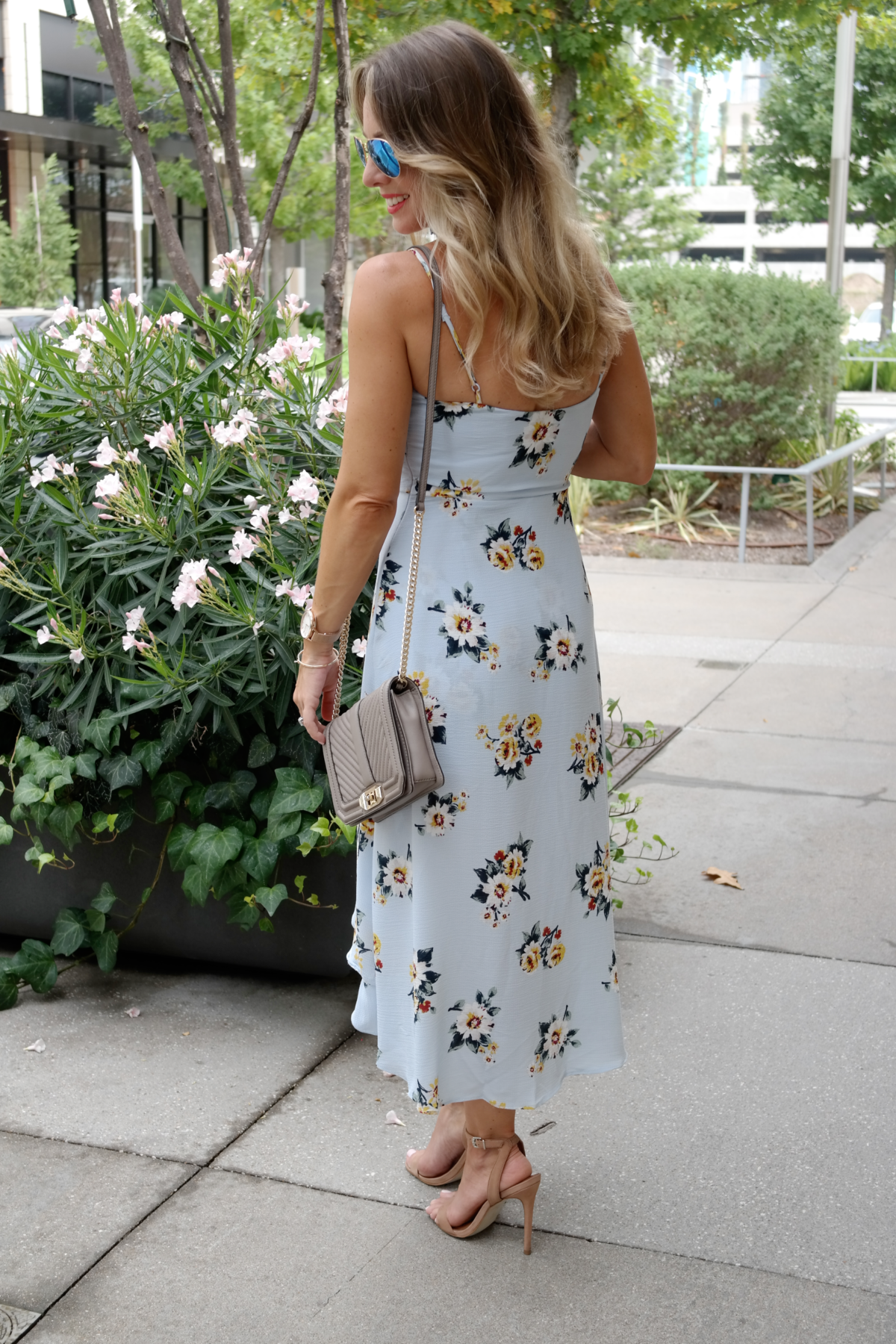 printed dress back