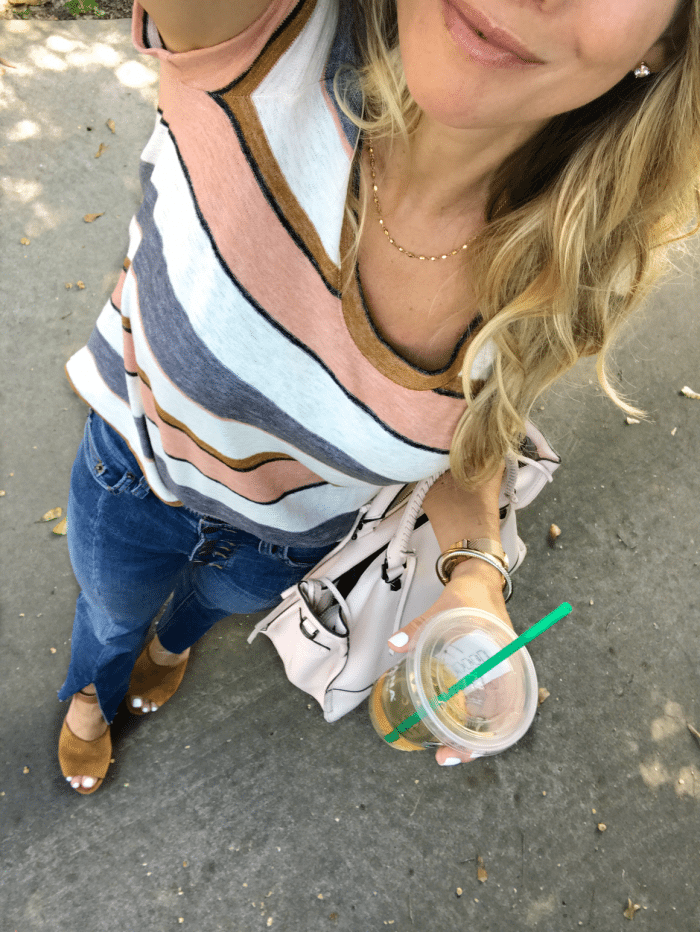 striped madewell tee