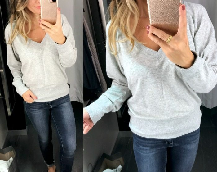 H&M V neck sweatshirt