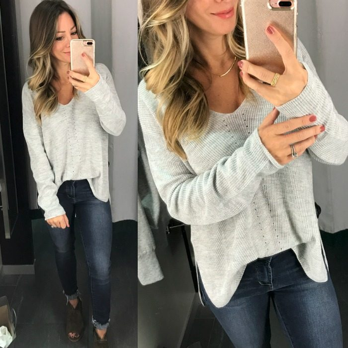 H&M grey v neck sweater