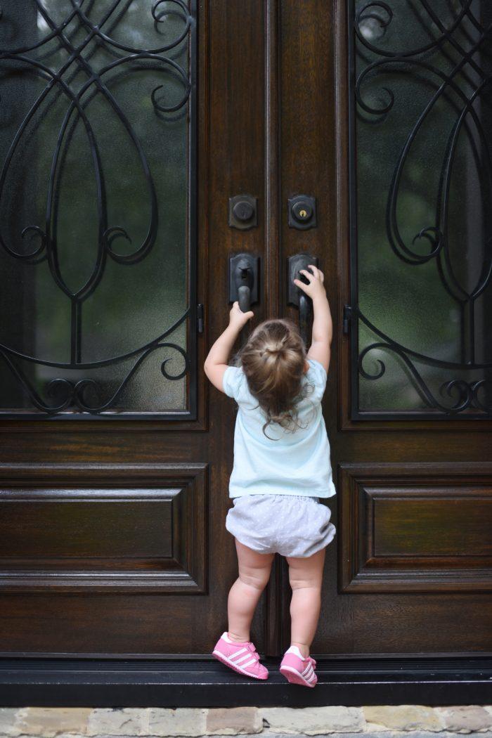 Jordan at door