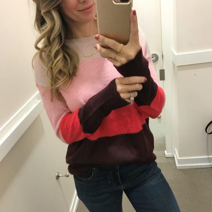 LOFT color block sweater