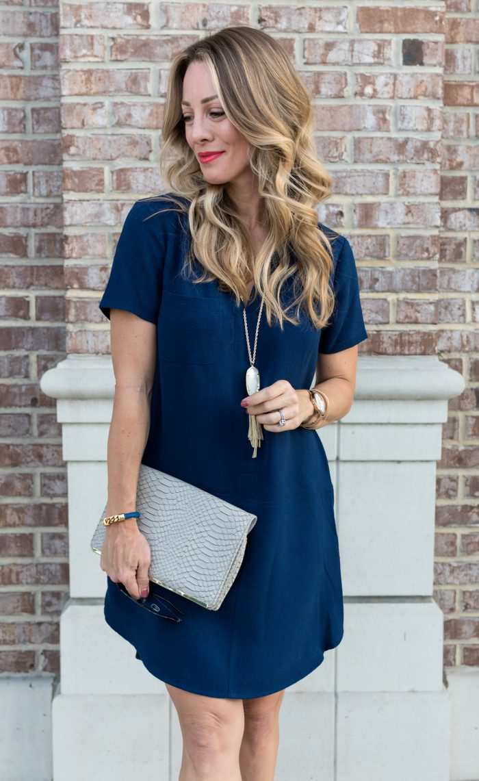 Navy shirt dress under $50.1