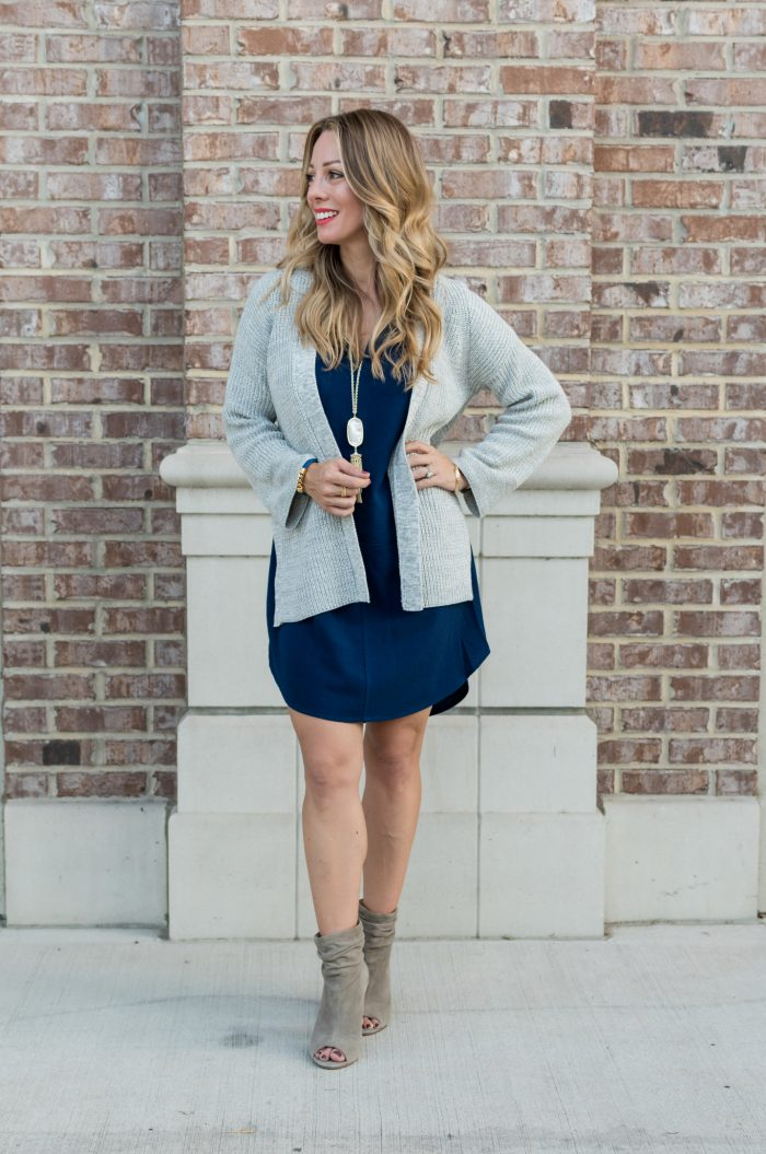 Navy shirt dress under $50.14