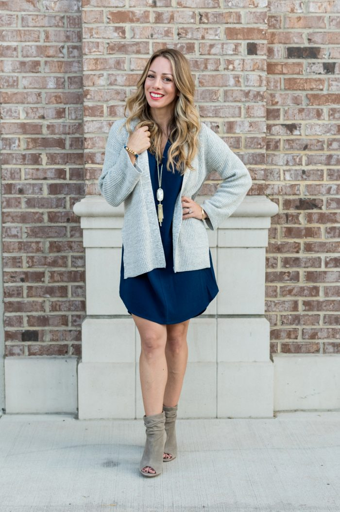 Navy shirt dress under $50.15