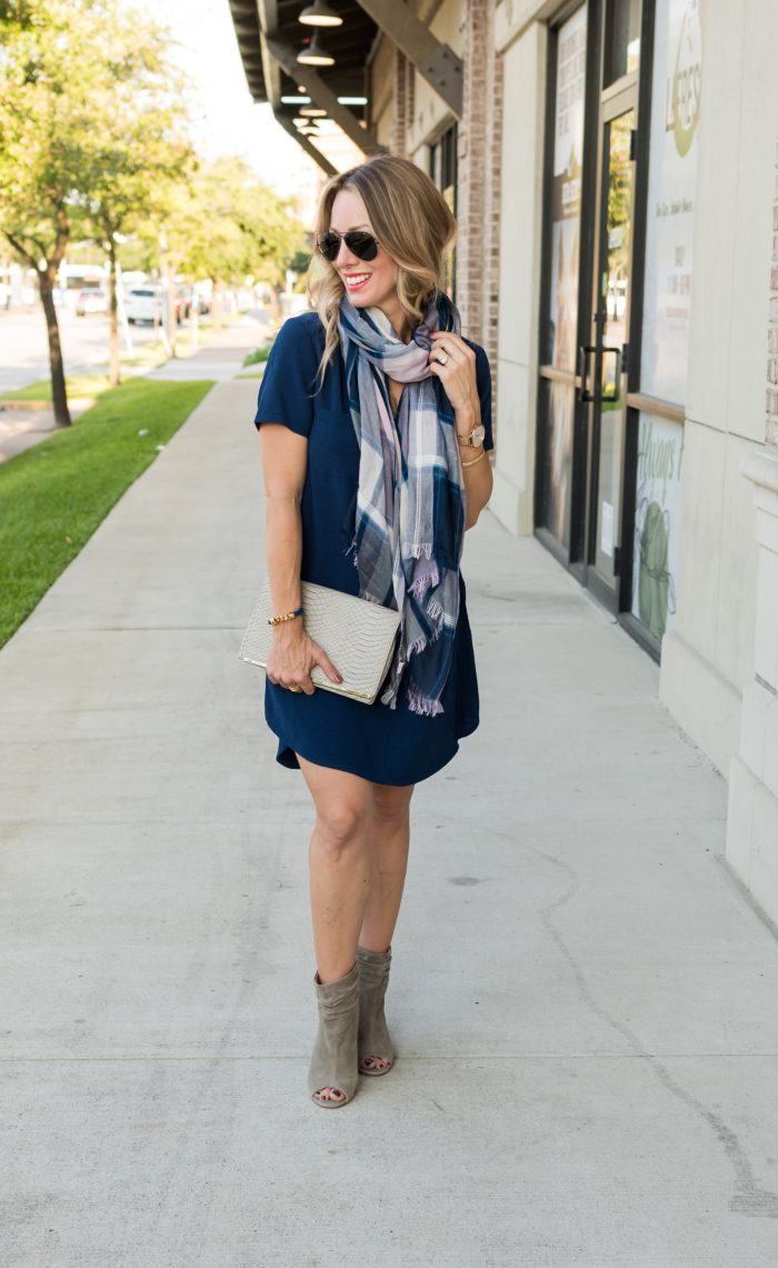 Navy shirt dress under $50.4