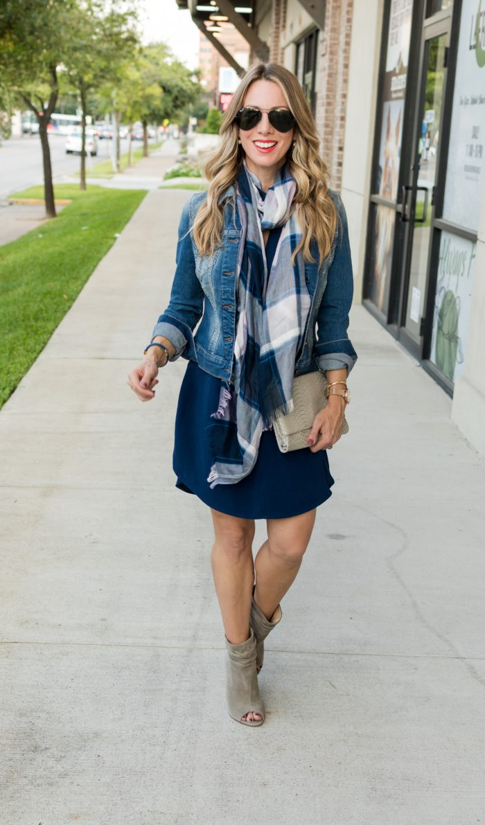 Navy shirt dress under $50.8