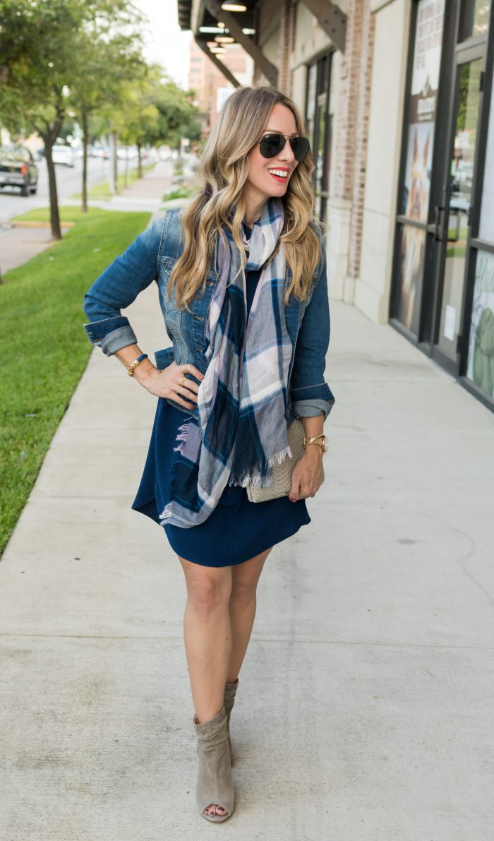 Navy shirt dress under $50.9