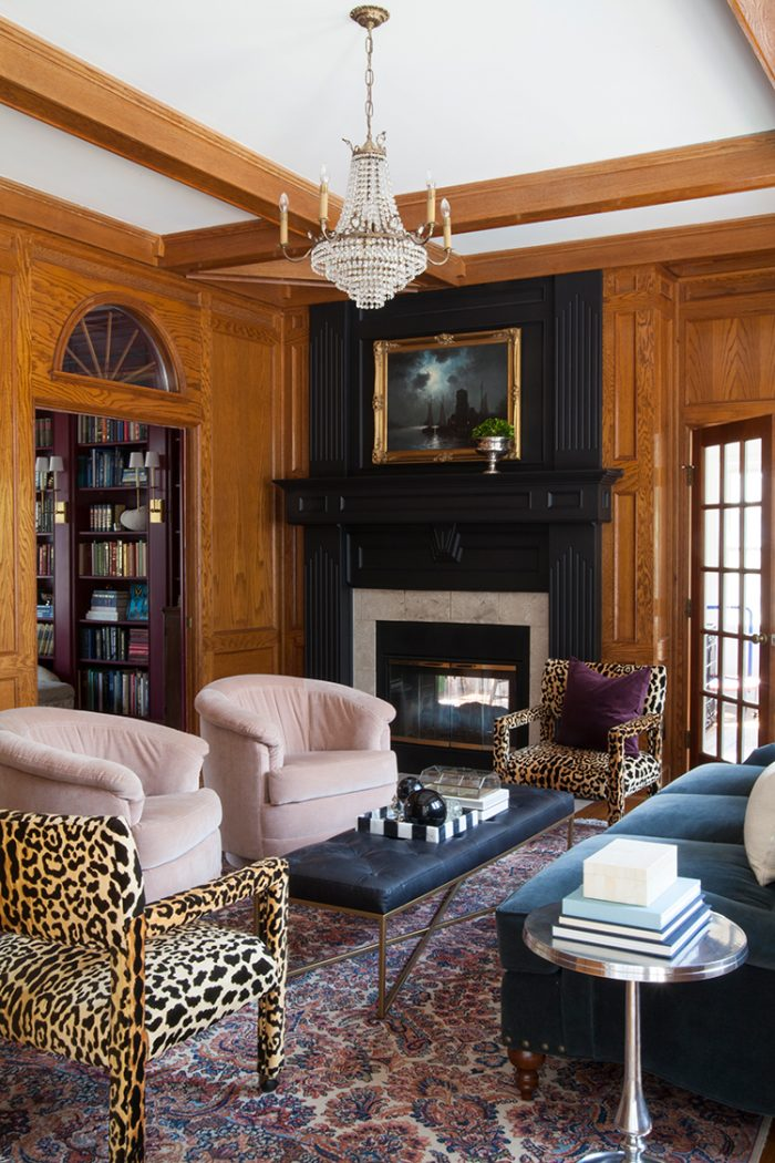 The-Makerista-Wood-Room-English-Roll-Arm-Sofa-Black-Tufted-Leather-Bench-Leopard-Parsons-IMG_1247
