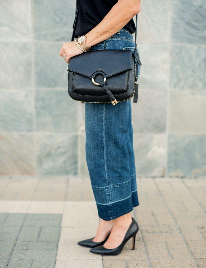 Wide Leg Jeans Black Tee.10