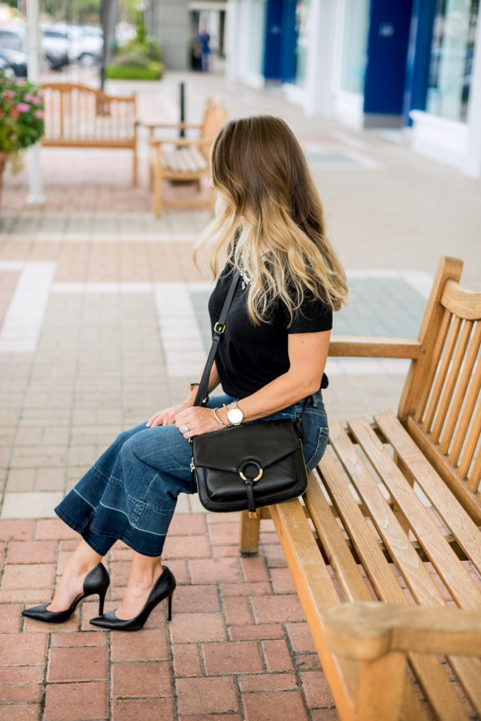 Wide Leg Jeans Black Tee.8