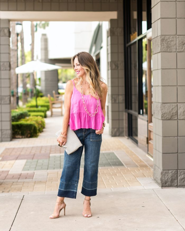 Wide Leg Jeans Pink Tank.1
