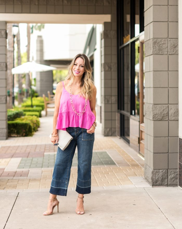 Wide Leg Jeans Pink Tank.2