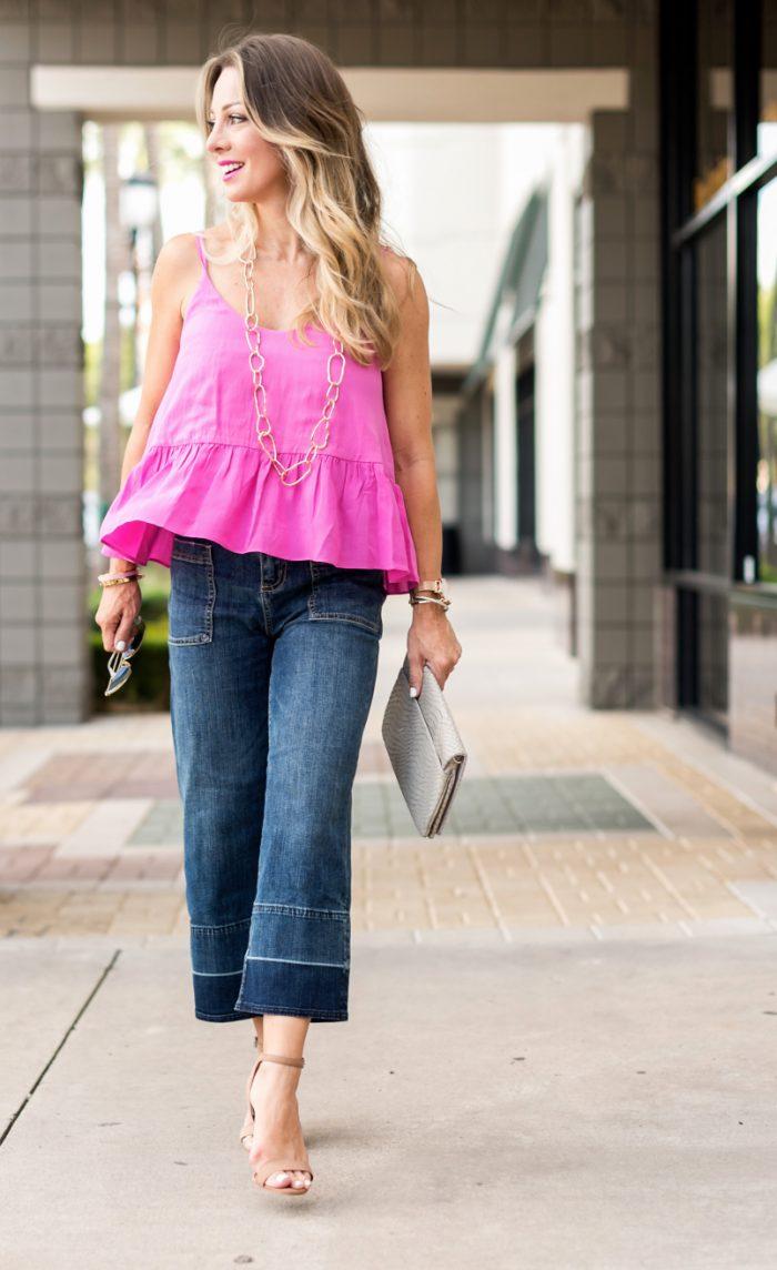 Wide Leg Jeans Pink Tank.6
