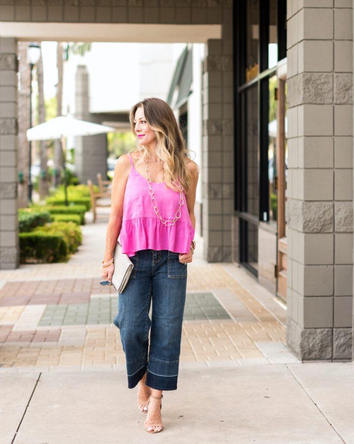 Wide Leg Jeans Pink Tank.7