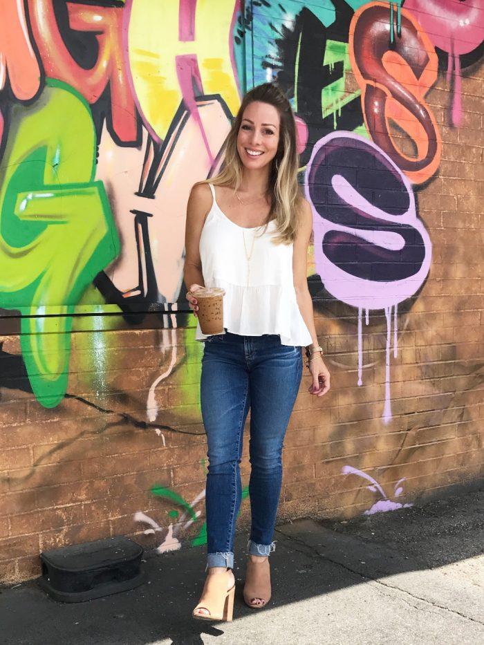 jeans white tank