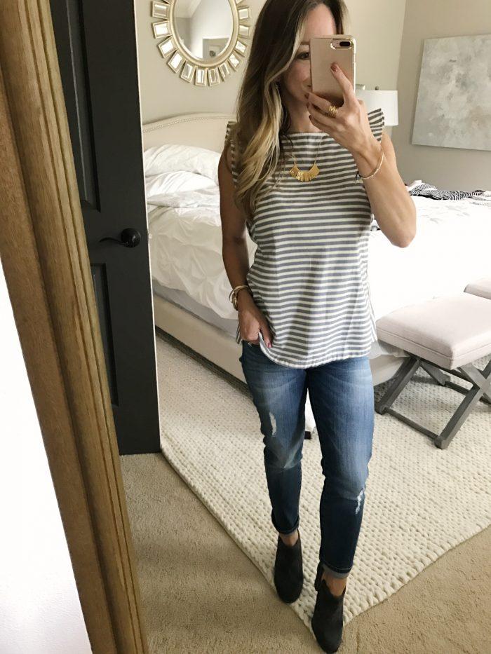 loft top boyfriend jeans