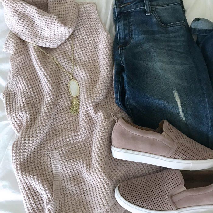 pink tank sweater
