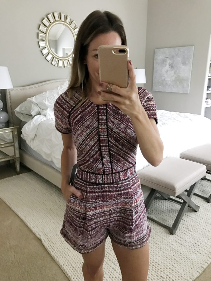 tweed shorts romper