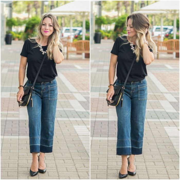 wide leg jeans Collage