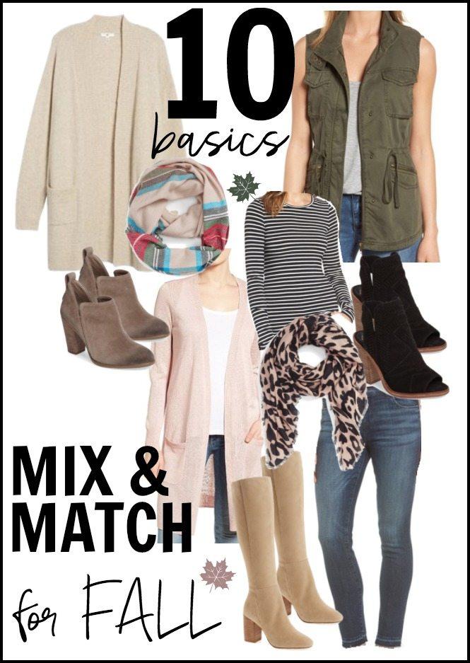 10 FALL Basics Mix & Match for Fall