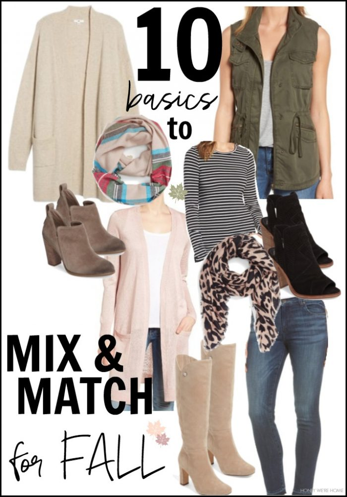 10 pieces to mix and match for fall