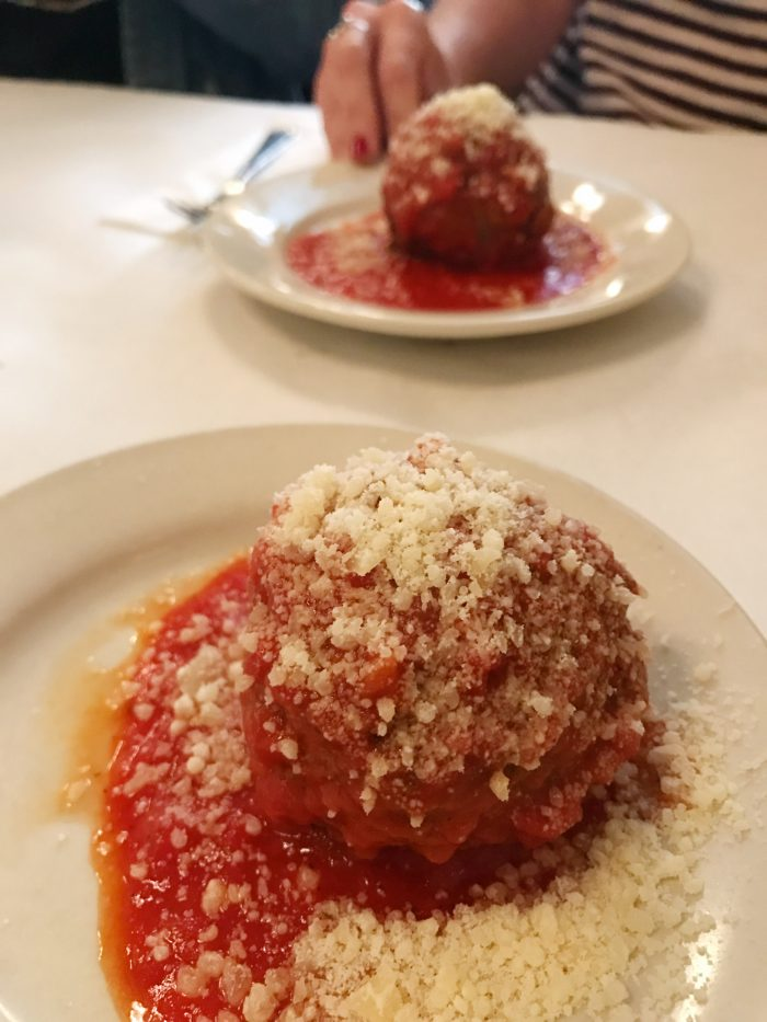 Foods of NY Tour, Brooklyn authentic Italian meatballs