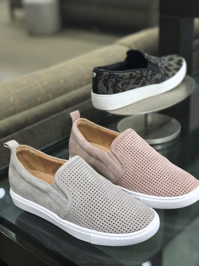 Caslon perforated slip on sneakers