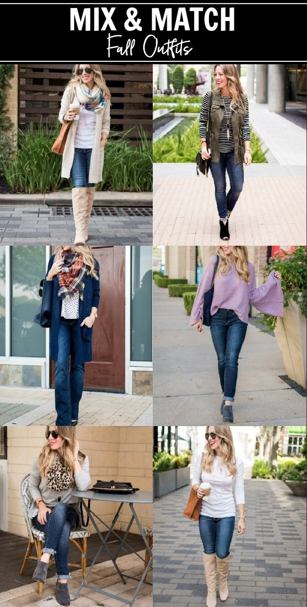 Mix & Match Fall Outfits #fallfashion #outfitinspo