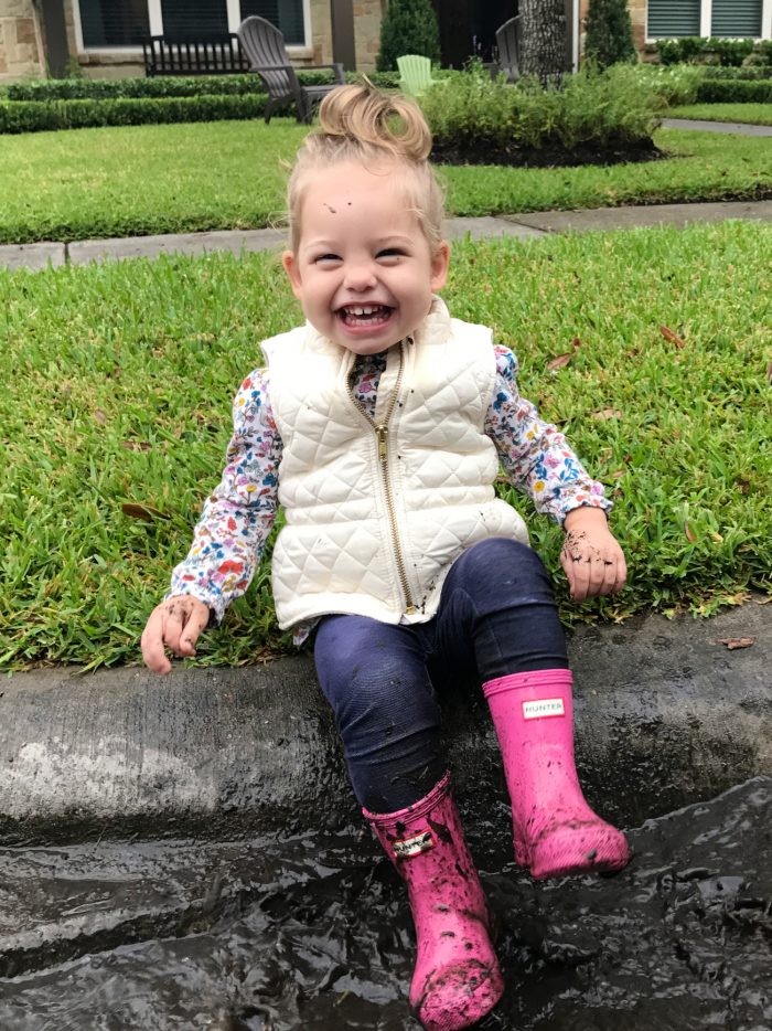 Toddler girl pink Hunter rain boots