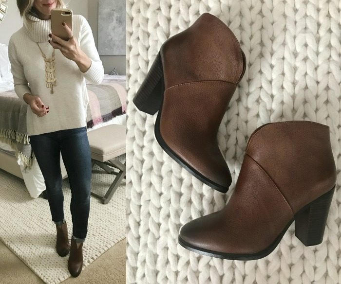 Cognac Booties
