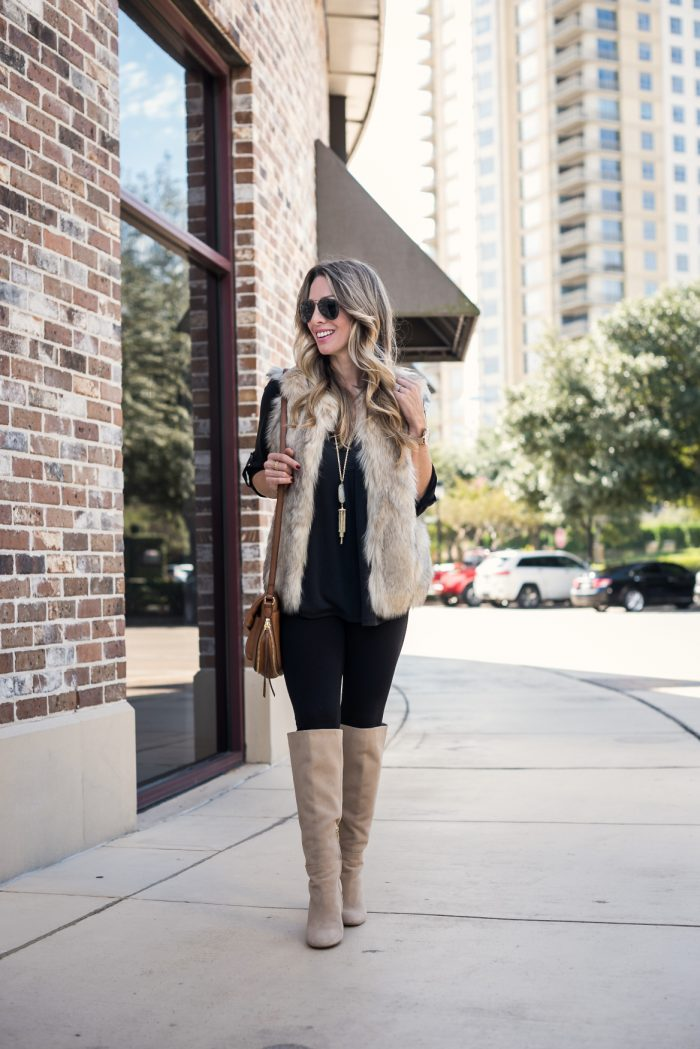 Leggings with black tunic and tall boots #fallfashion #winterfashion 4
