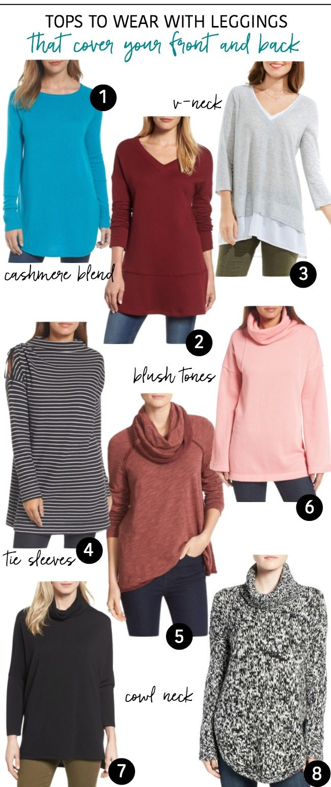 Tops To Wear With Leggings- that cover your front and back