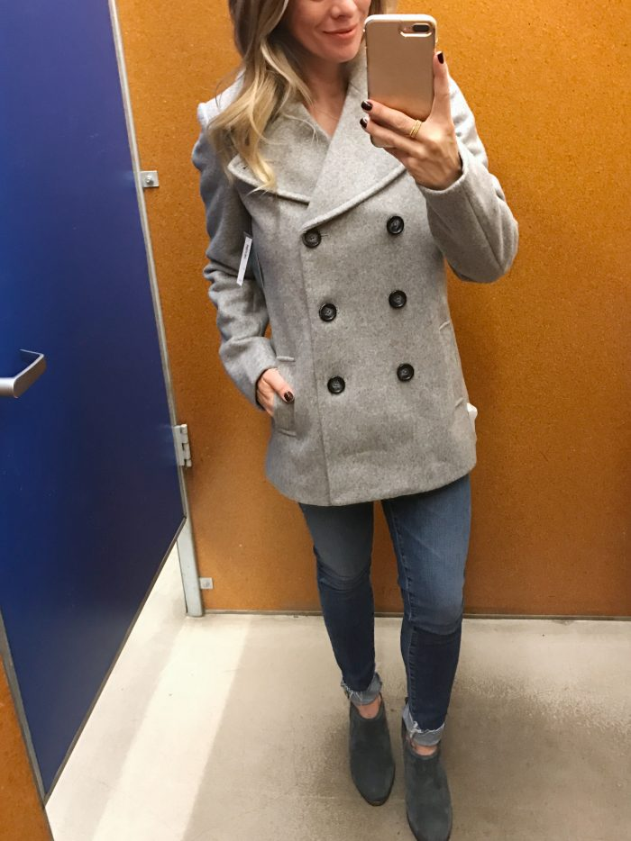 old navy double breasted coat
